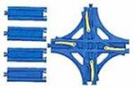 R-14 Crossed Point Rail (w/Half Straight Rail...