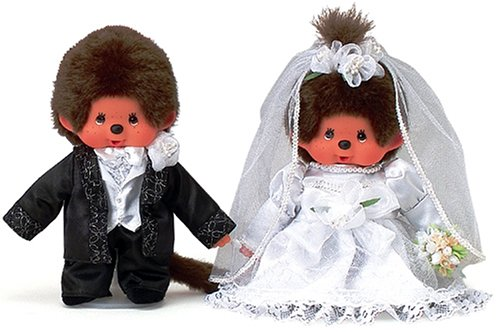 Monchhichi Wedding Couple Deluxe Box Set