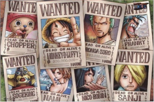 One Piece Straw Hat Crew Wanted Poster Puzzle...