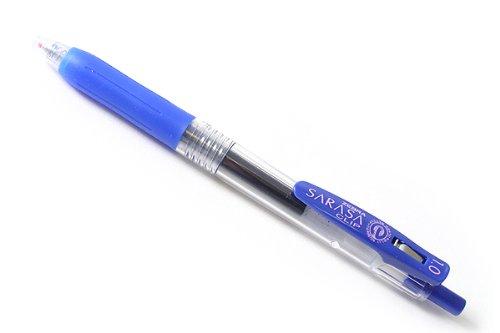 Zebra Sarasa Push Clip Gel Ink Pen - 1.0 mm - Blue