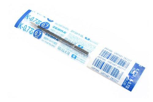 Zebra K-0.7 Ballpoint Pen Refill - 0.7 mm - Blue