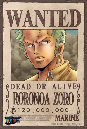 """One Piece """"WANTED"""" Poster Puzzles!"""