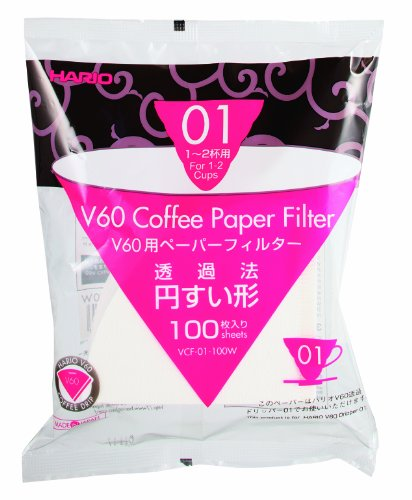 Hario Coffee White Paper Filter Size 01 for...