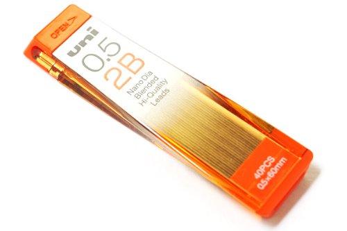 Uni NanoDia Low-Wear Pencil Lead - 0.5 mm - 2B