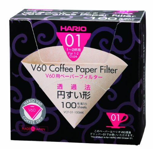 Hario V60 Paper Filter M 1-2 cups 100sheets...