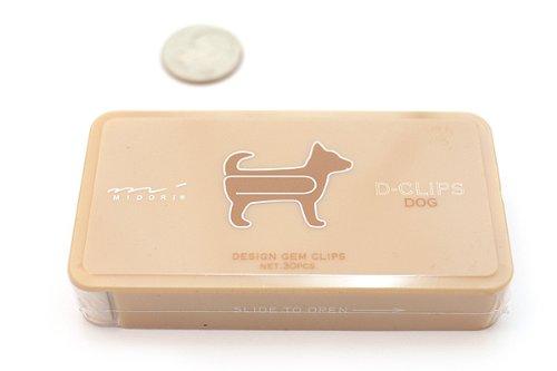 Midori D-Clip Paper Clips - Pet Series - Dog -...