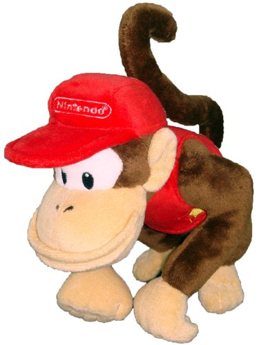 "Super Mario Plush - 6"" Diddy Kong Soft Stuffed..."