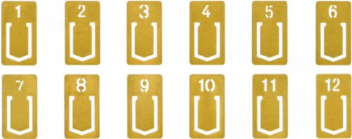 Midori Traveler's Notebook Brass Number Clips