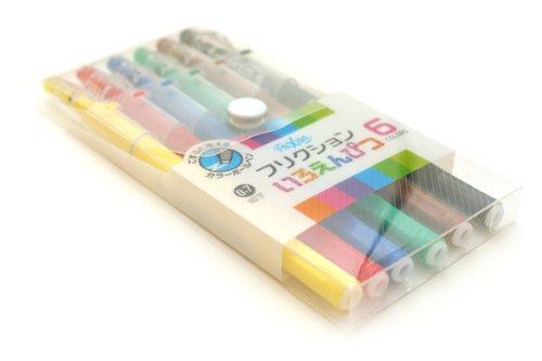 6 color pencil set pilot friction (japan import)