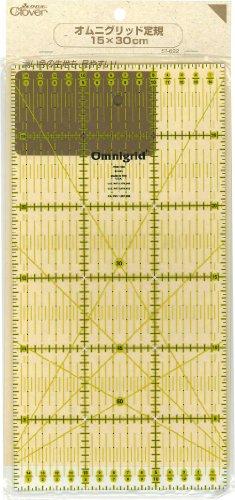 Clover Omni grid ruler 15x30cm (japan import)