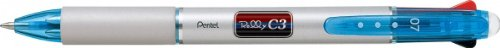 Pentel Raleigh C3 3 color ballpoint pen clear...