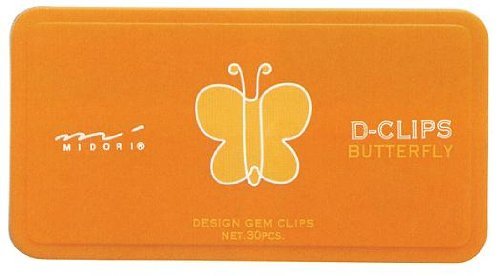 Midori D-Clip Paper Clips - Garden Series -...