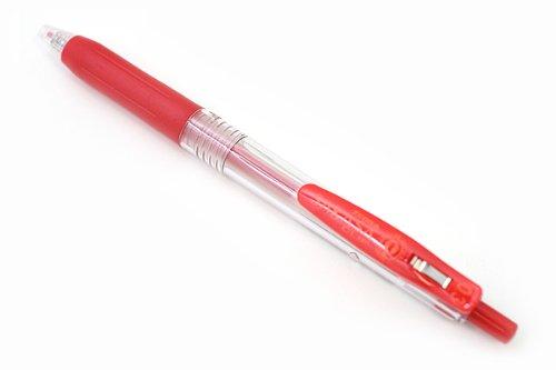Zebra Sarasa Push Clip Gel Ink Pen - 0.3 mm - Red