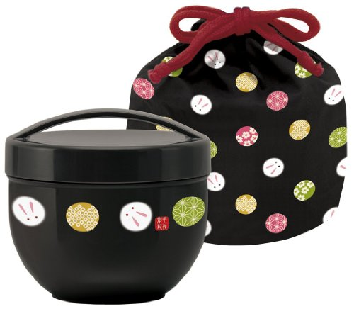 Japanese Bento Bowl 560ml with Carrying Bag...