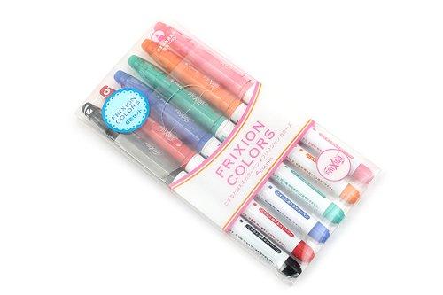 Pilot Frixion Colors Erasable Marker Pen - 6...