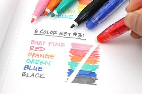 Pilot Frixion Colors Erasable Marker Pen 6 Color Set