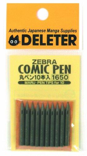 Zebra Managa Pen Nib Maru - 10pc