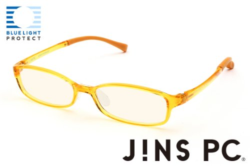 2b072a7643c JINS - PC Glasses Computer Eye wear Yellow - Light Brown Lenses from ...