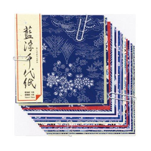 Japanese Traditional Craft Paper Washi Aizome...