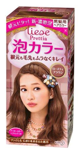 Kao Prettia Bubble Hair Color Rose Tea Brown