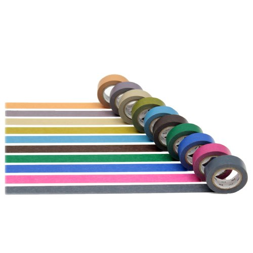 MT Washi Masking Tapes Set of 10, Cool Colors...
