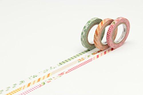 MT Washi Masking Tape, Slim, DECO D, 6mm x 10m...