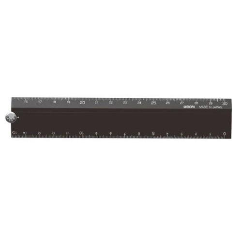 Midori Alumi Malti Ruler - 30cm Black