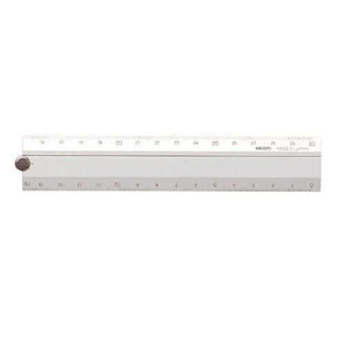 Midori Alumi Malti Ruler - 30cm Silver