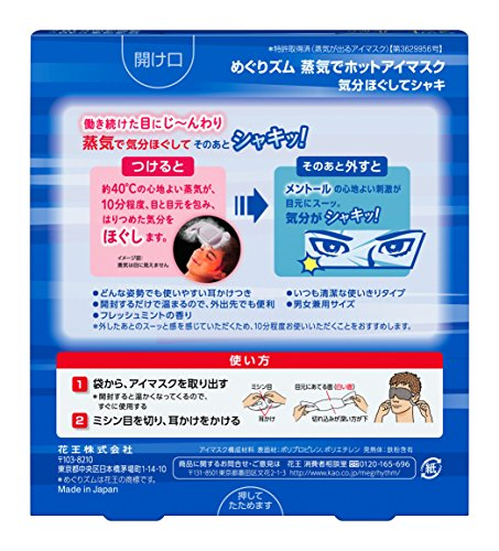 KAO Steam Eye Mask Relax & Go! (Mint) *5pcs