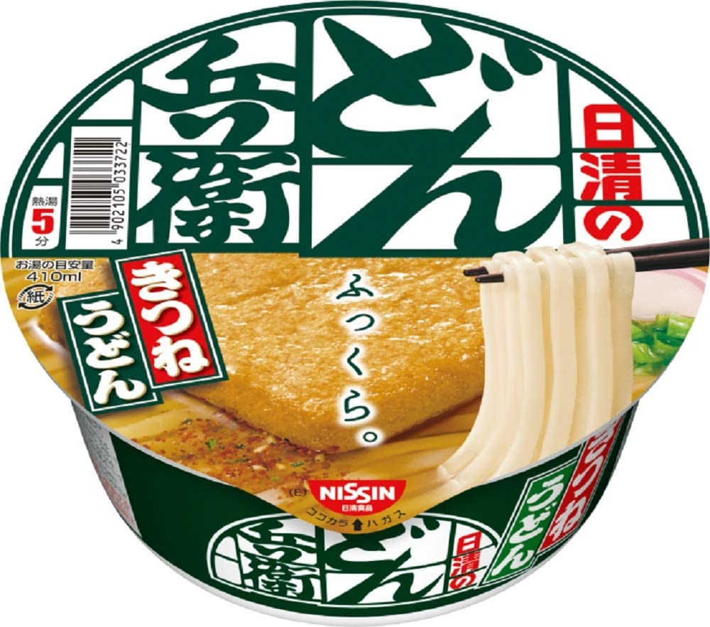 NISSIN Cup Nudeln Donbe Kitsune Udon 95g × 6...
