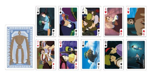 Studio Ghibli Playing Cards -Laputa castle in...