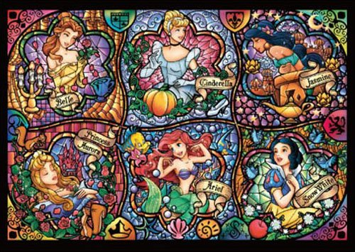 DISNEY Stained Glass Art Puzzles Series
