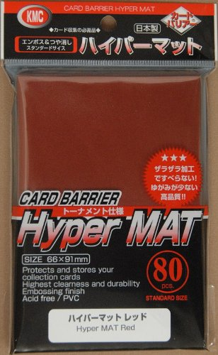 Hyper Matte Sleeves (80-Pack), Red