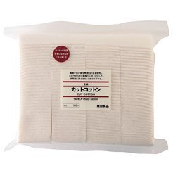 MUJI Makeup Facial Soft Cut Cotton Unbleached...