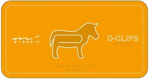 Midori Paper clips Horse Pattern D-Clips (10...
