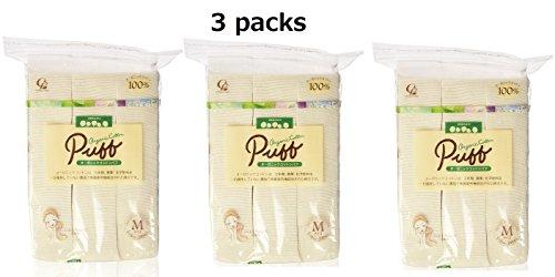 ORGANIC Cotton Makeup Puff, Medium 3 packs