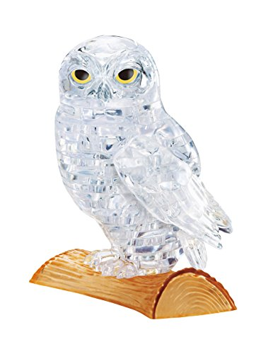 42 piece Crystal puzzle Owl Clear 3D puzzle