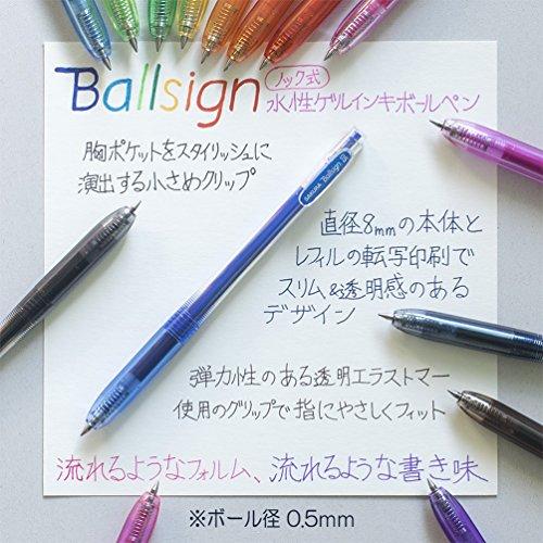 Sakura Knock Gel Ink Ballpoint Pen, Ball Sign...