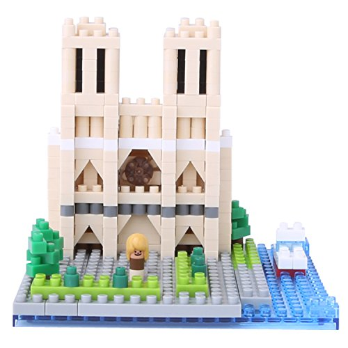 Nano block Notre Dame Cathedral NBH_093