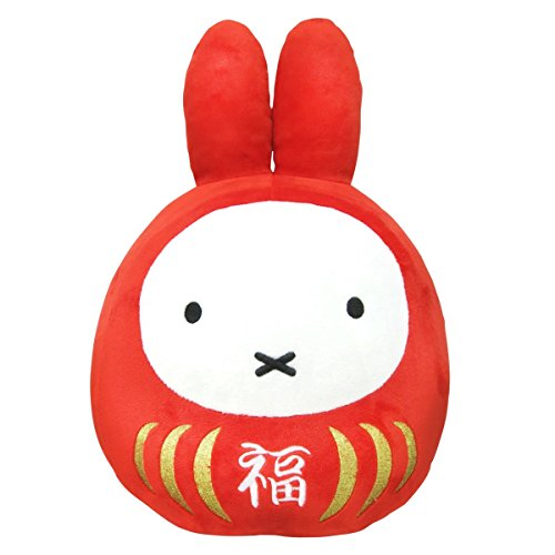 Miffy Fortune Daruma Lucky Plush Doll (S Size...