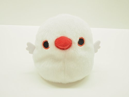 Tori-dango white Java sparrow stuffed toy bird...