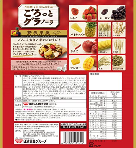 Nisshin Cisco Gorotto granola luxury fruit 500g