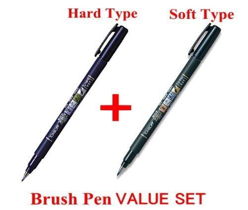 2Pacs X Tombow Fudenosuke Brush Pen / Soft...