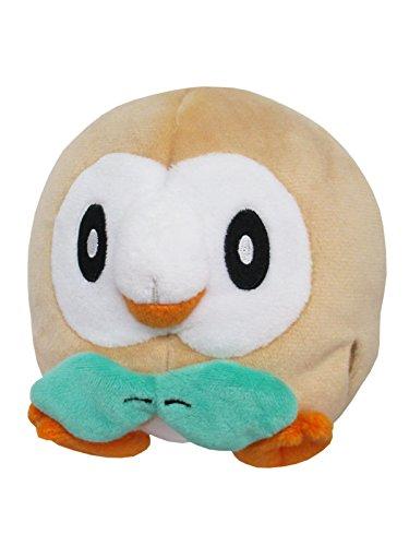 Sanei Pokemon All Star Stuffed Rowlet Plush...