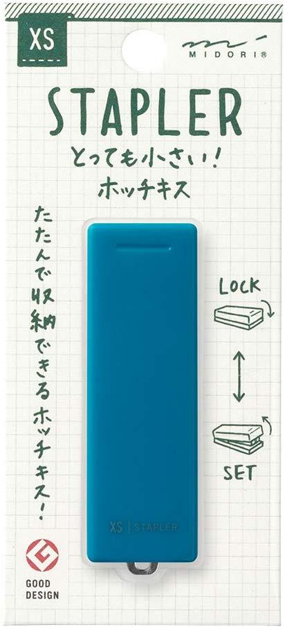 Midori Compact Stapler, XS Series, Blue (35273006)