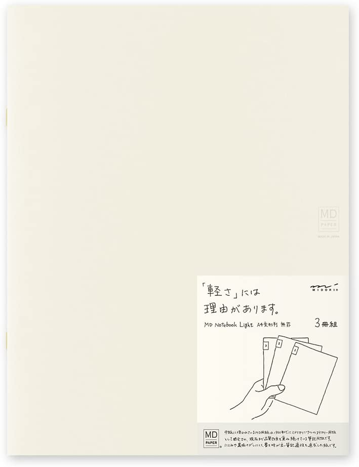 MIDORI MD Notebook Light A4 Variant (Blank) 3