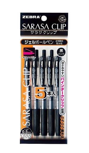 Zebra Sarasa Clip 0.5 Black P-JJ15-BK5...