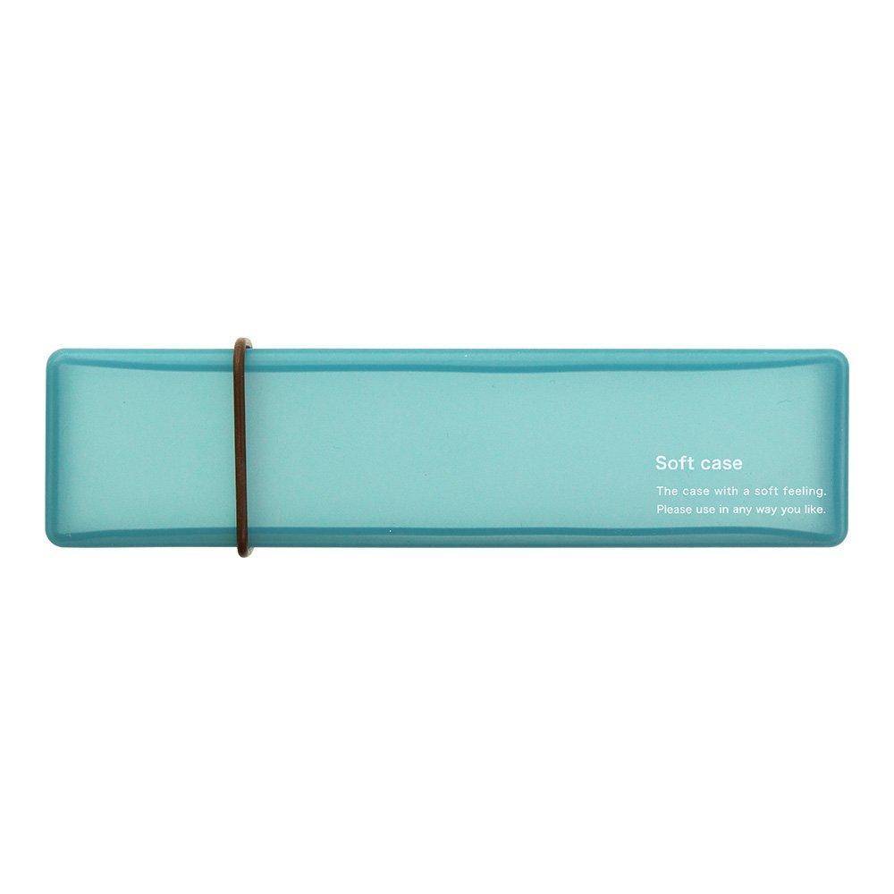 Midori Soft Silicone Pen Case, Sky Blue...