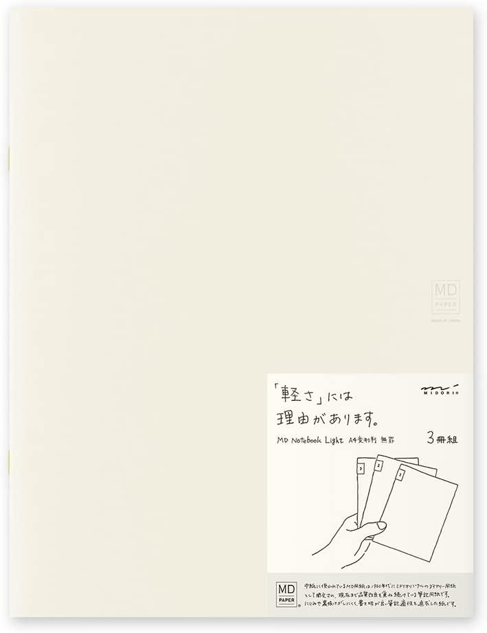 MIDORI MD Notebook Light A4 Variant (Blank) 3